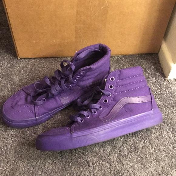 Vans Shoes | Vans Purple High Tops